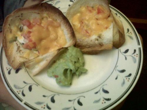 Vegetarian cones / Taco cupcakes