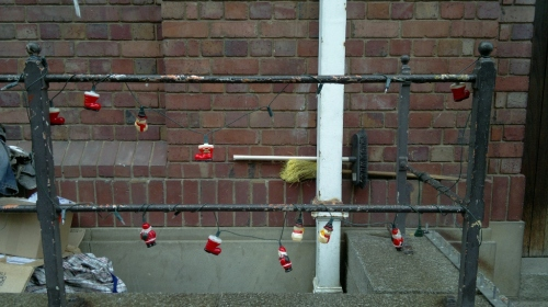 Christmas decorations on the street