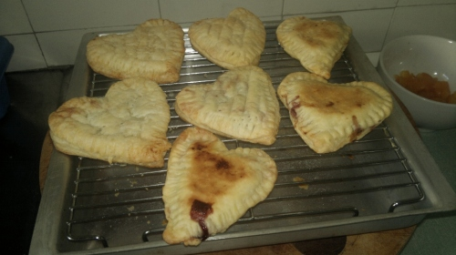 on the cooling rack - my sweet heart tarts
