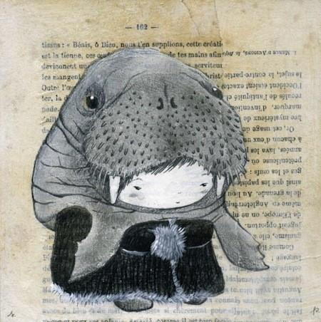 Walrus hat drawing