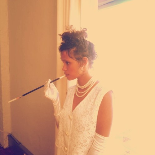 Stacey Knipe models for It's Mine Now - Behind the Scenes