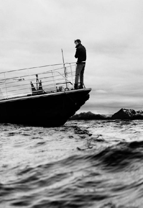 boat on choppy seas
