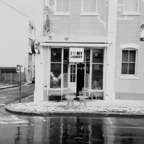 Snow in Cape Town - some of the shopfronts looked like they were in Europe rather than the Mother City