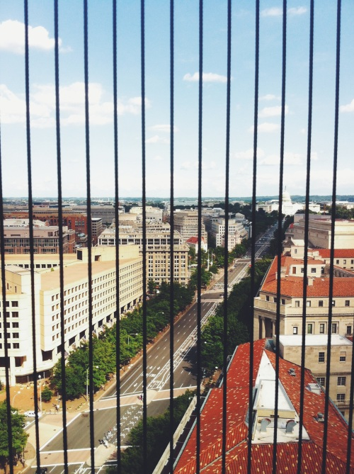 View of Washington DC from the Old Post Office.