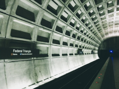 Federal Triangle Metro Station.