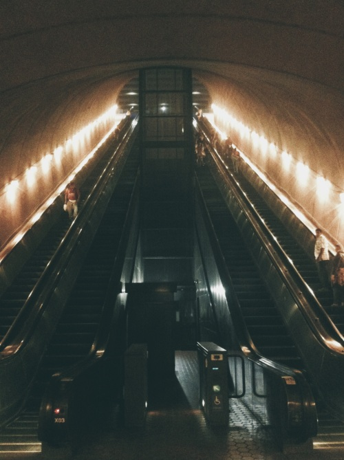 Rosslyn Metro Station in Washington DC.