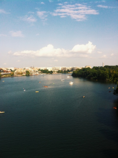 View from the Francis Scott Key Bridge, Washington DC.
