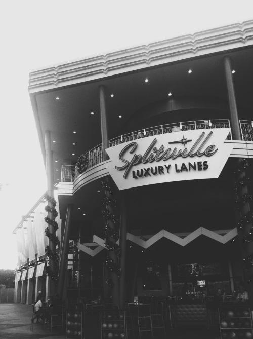 Splitsville, bowling lanes. Downtown Disney.