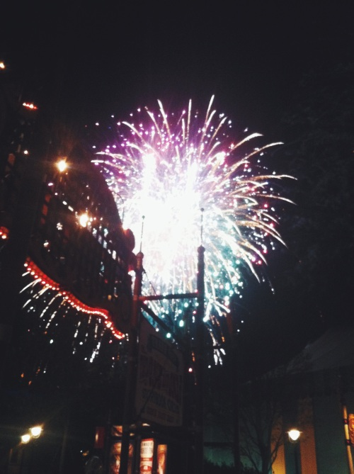 Fireworks at Disney World.