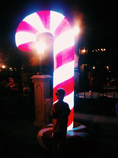 Giant candy cane light.